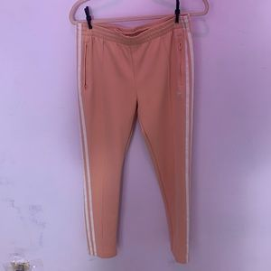Adidas pink track pants